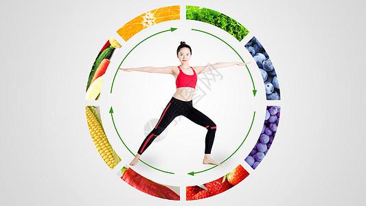 均衡绿色健康营养饮食图片