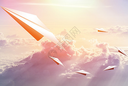 纸飞机梦想图片