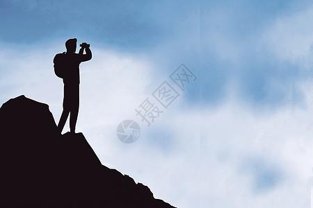 登山励志背景图片