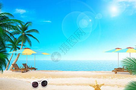 海滩眼镜图片