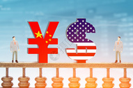 中美贸易战图片