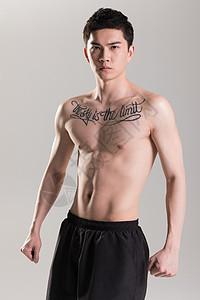 健身男性肌肉展示图片