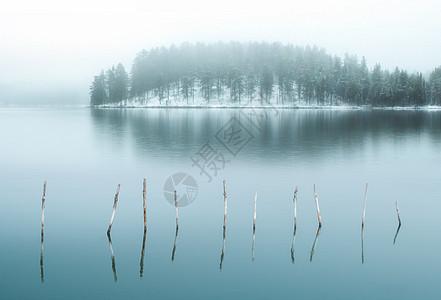 库尔滨雾凇美景图片
