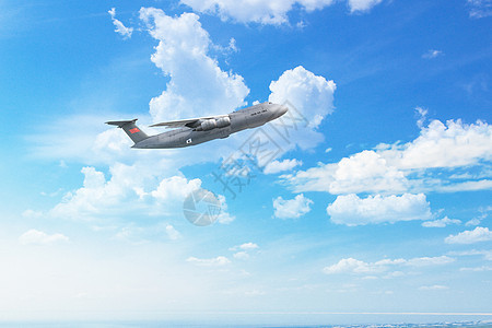 高空的航空飞行图片