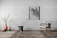 单椅挂画组合家居图片