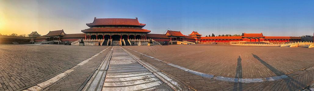 北京故宫日落全景图图片