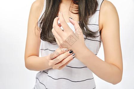 强年女性手痛动作图片