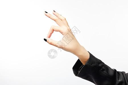 商务女性ok手势动作图片