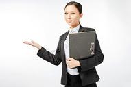 商务女性产品介绍动作图片