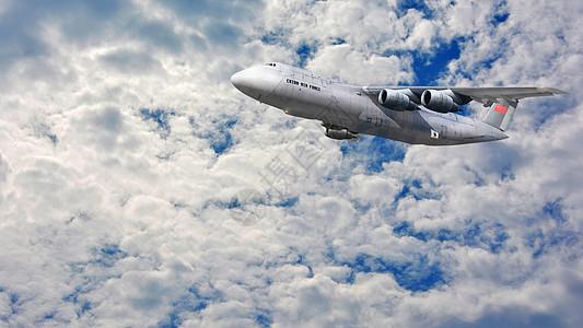 云端飞机图片