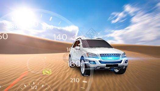 沙漠汽车图片