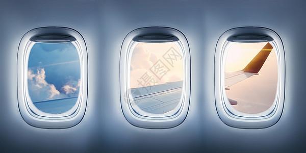 飞机窗外图片