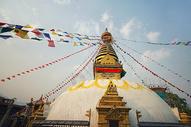 尼泊尔猴庙佛塔图片