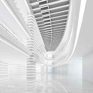 现代科技大厅效果图图片