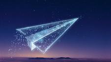 纸飞机科技图片