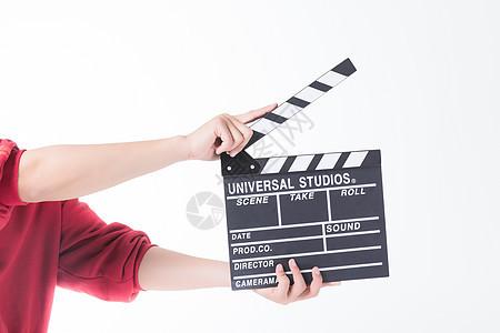 男性拍电影场景板图片