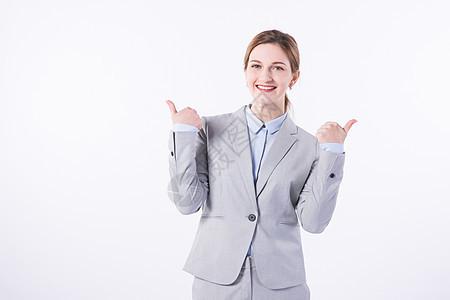 开心的外国商务女性图片
