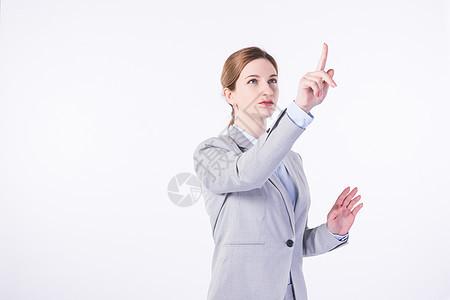 外国商务女性科技点击 图片