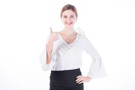 开心的外国女性白领图片