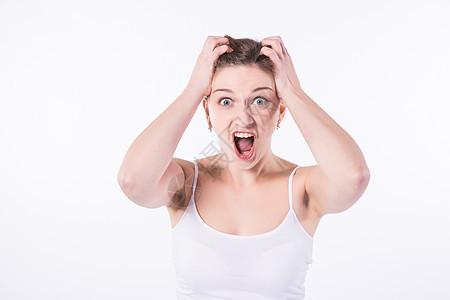 外国女性烦恼图片