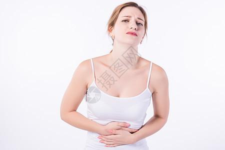 外国女性生病身体疼痛图片
