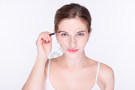 外国女性化妆图片
