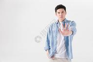男性形象拒绝手势图片