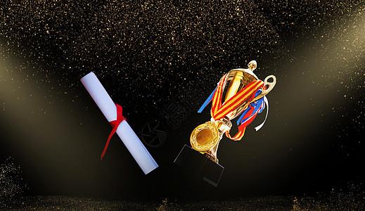 奖杯颁奖背景图片
