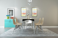现代餐桌设计图片