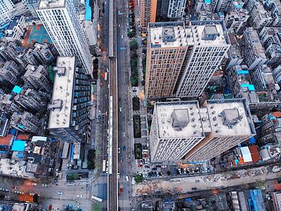 俯瞰城市轨道交通图片