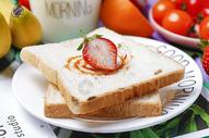 早餐面包片图片