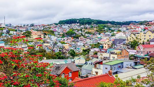 越南大叻城市景观图片