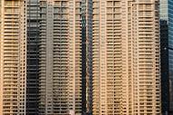 傍晚时上海的建筑特写图片