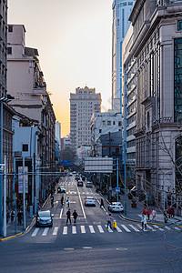 上海路与建筑图片
