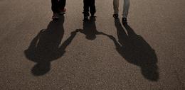 一家三口的影子图片