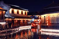 台儿庄景区夜景图片