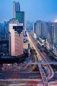 城市商业区夜景图片
