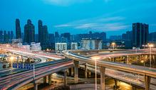 武汉竹叶山立交桥夜景图片