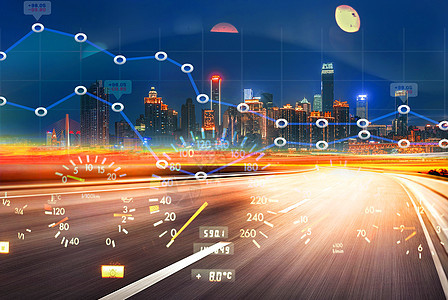 智能开车行驶背景图片