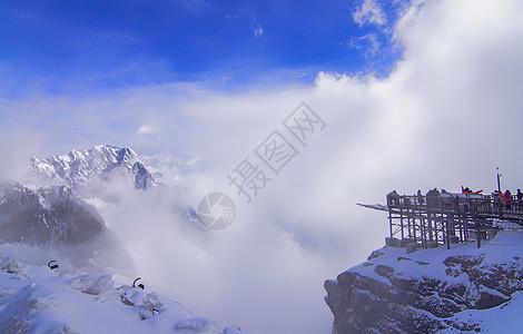 丽江玉龙雪山观景平台图片