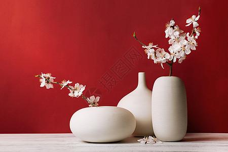 春季桃花日本禅意插花花卉图片
