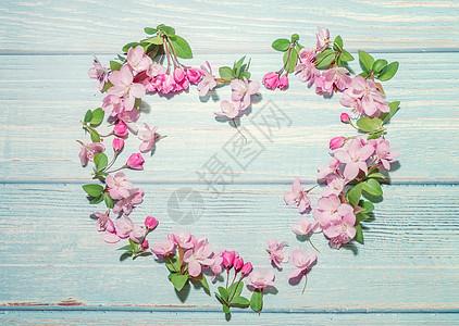 樱花爱心图片