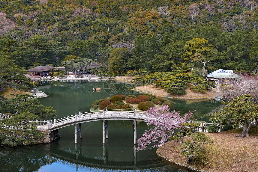 日本日式园林风景图片