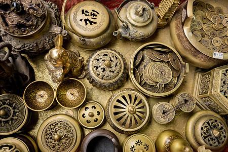 铜制品古玩香炉器皿图片