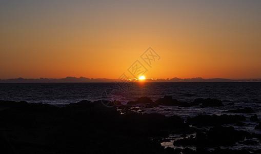 太阳平日落图片