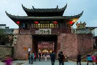 安徽徽州古城城门夜景图片