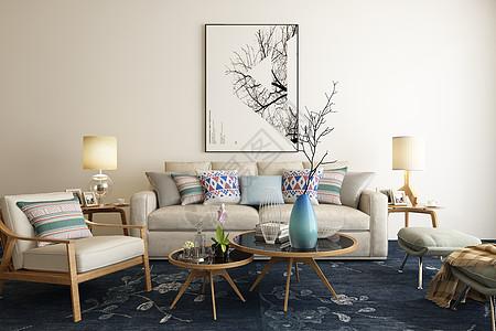 现代客厅场景设计高清图片