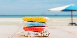 雪糕 清新夏天背景图片