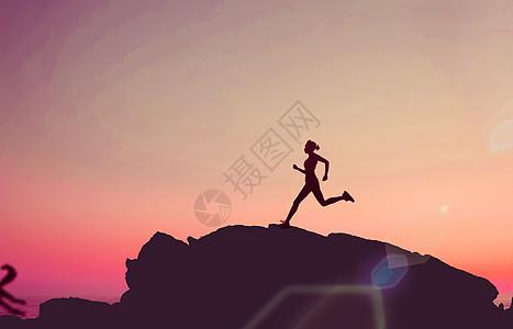 创意奔跑健身奋斗图片