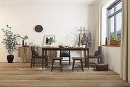 现代餐桌餐椅组合效果图图片